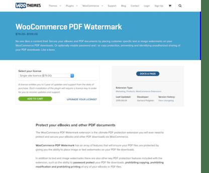 Extensión para WooCommerce: PDF Watermark