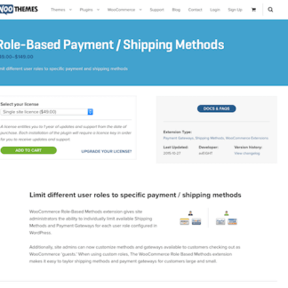 Extensión para WooCommerce: Role Based Payment Shipping Methods