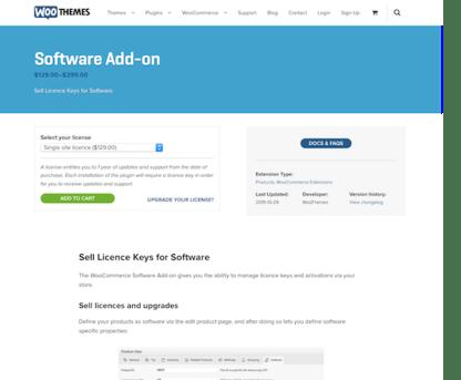 Extensión para WooCommerce: Software Add-on