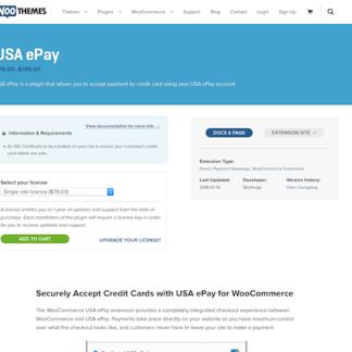 Extensión para WooCommerce: USA ePay