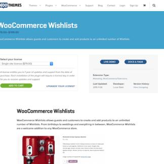 Extensión para WooCommerce: Wishlists