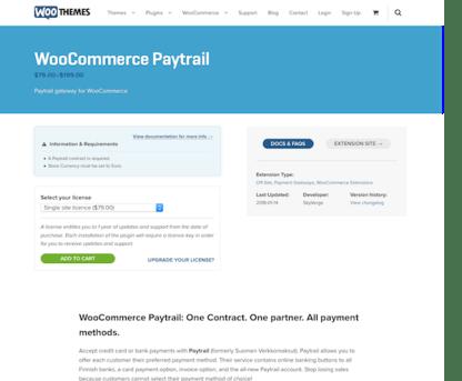 Extensión para WooCommerce: WooCommerce Paytrail