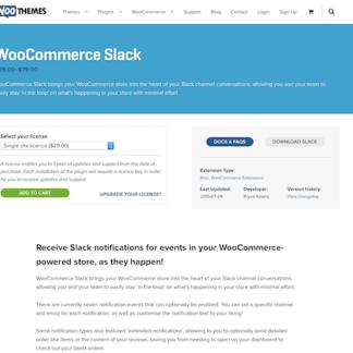 Extensión para WooCommerce: WooCommerce Slack