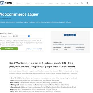 Extensión para WooCommerce: Zapier