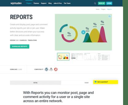 WPMU DEV: Reports WordPress Plugin