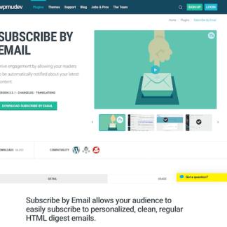 WPMU DEV: Subscribe by Email WordPress Plugin