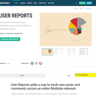 WPMU DEV: User Reports WordPress Plugin