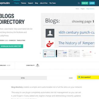 WPMU DEV: Blogs Directory WordPress Plugin