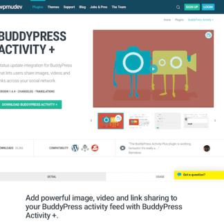 WPMU DEV: BuddyPress Activity Plus WordPress Plugin