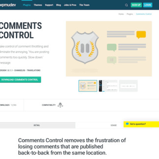 WPMU DEV: Comments Control WordPress Plugin