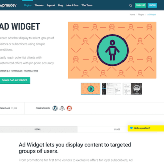 WPMU DEV: Ad Widget WordPress Plugin