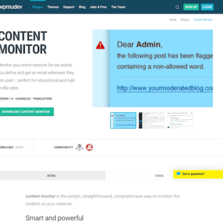 WPMU DEV: Content Monitor WordPress Plugin