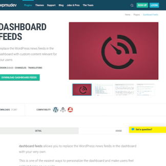 WPMU DEV: Dashboard Feeds WordPress Plugin