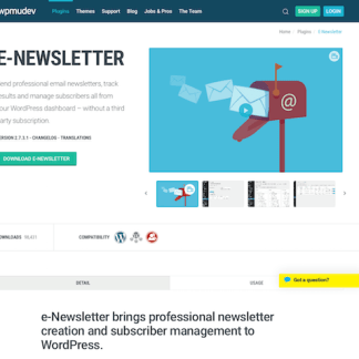 WPMU DEV: E-Newsletter WordPress Plugin