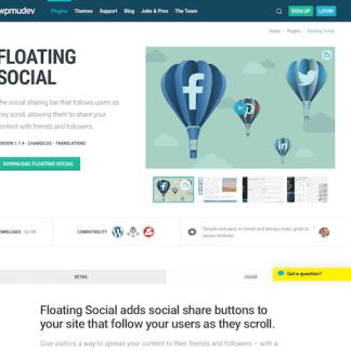 WPMU DEV: Floating Social WordPress Plugin
