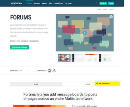 WPMU DEV: Forums WordPress Plugin