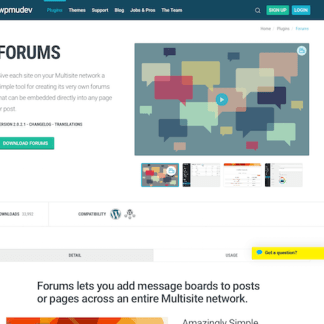 WPMU DEV: Forums WordPress Plugin