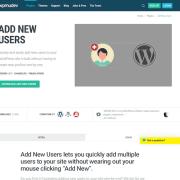 WPMU DEV: Add New Users WordPress Plugin