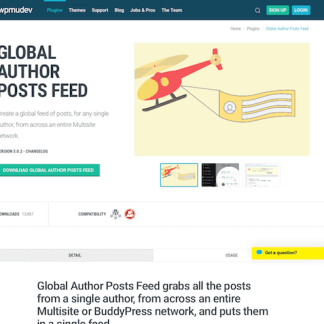 WPMU DEV: Global Author Posts Feed WordPress Plugin