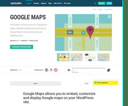 WPMU DEV: Google Maps WordPress Plugin