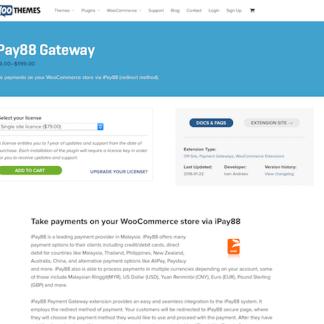 Extensión para WooCommerce: iPay88 Gateway