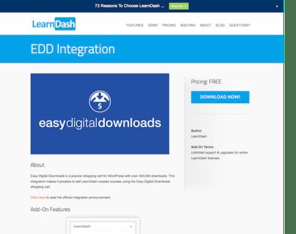 LearnDash LMS Add-On: EDD Integration
