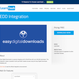 LearnDash LMS Add-On: EDD Integration