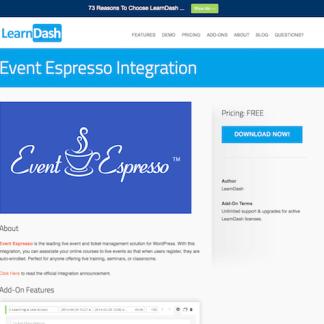 LearnDash LMS Add-On: Event Espresso Integration