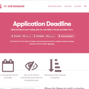 WP Job Manager Add-On: Application Deadline