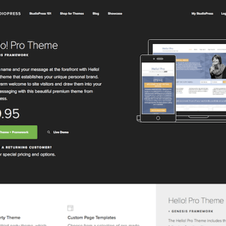 StudioPress: Hello! Pro Theme
