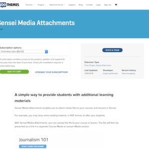 WooThemes: Sensei LMS Media Attachments Addon