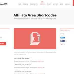 AffiliateWP: Affiliate Area Shortcodes
