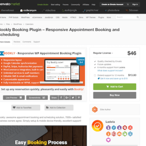 Codecanyon: Bookly - Book Appointments, Book Services, Book Anything!