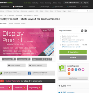 Codecanyon: Display Product - Multi-Layout for WooCommerce