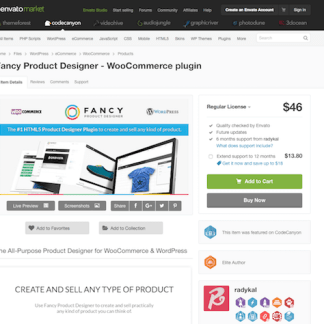 Codecanyon: Fancy Product Designer