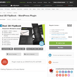 Codecanyon: Real 3D Flipbook