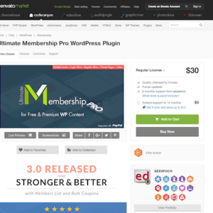 Codecanyon: Indeed Ultimate Membership Pro