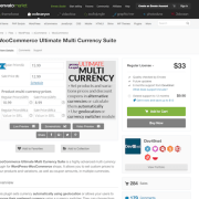 Codecanyon: WooCommerce Ultimate Multi Currency Suite