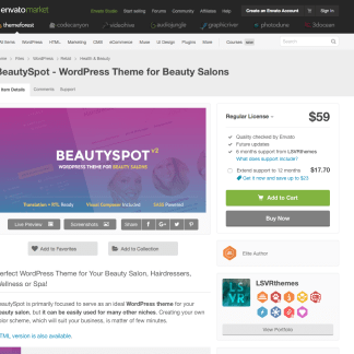 Themeforest: BeautySpot