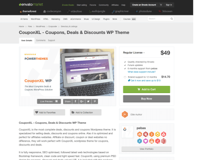 Themeforest: CouponXL