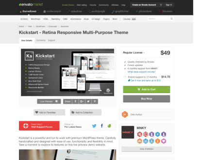 Themeforest: Kickstart