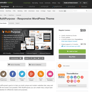 Themeforest: MultiPurpose