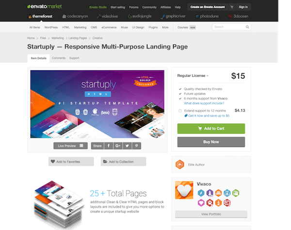 Themeforest: Startuply
