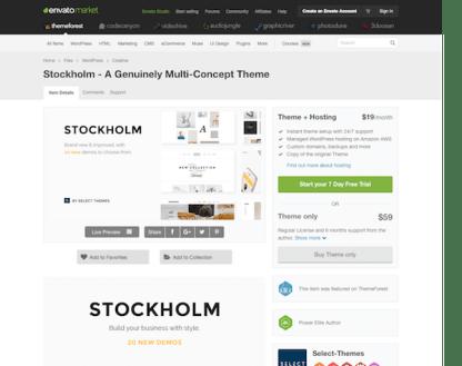 Themeforest: Stockholm