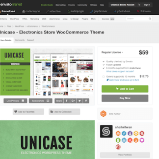 Themeforest: Unicase
