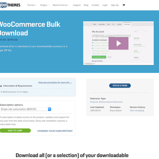 Extensión para WooCommerce: Bulk Download