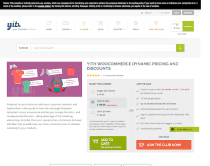 YITH WooCommerce: Dynamic Pricing and Discounts Premium