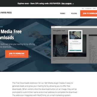 Graph Paper Press: Sell Media Free Downloads Addon