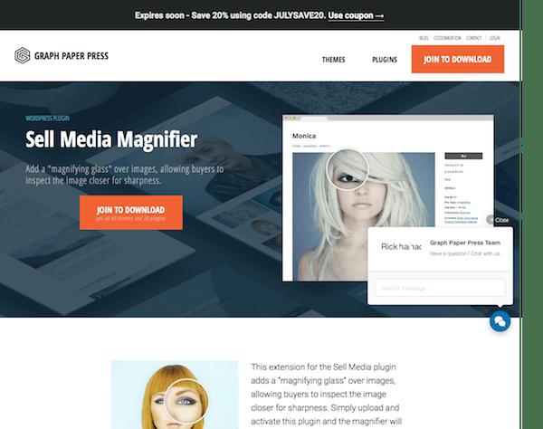 Graph Paper Press: Sell Media Magnifier Addon