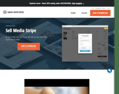 Graph Paper Press: Sell Media Stripe Addon
